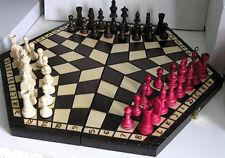 Chess, Chess for Drei, 54 x 47 cm, 40 x 35 cm, 32 x 28 cm, Wood
