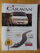 DODGE Caravan Range orig 1995 large format USA Mkt sales brochure