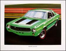 1969 AMC Javelin SST Art Print Lithograph 69