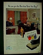 1939 Hoover Vacuum Sweeper Household Appliance Print AD
