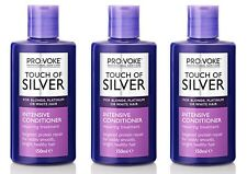 3x Provoke Touch Of Silver Intensive Treatment Conditioner 150ml Platinum Blonde