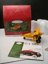 Nib Hallmark 1930 Custom Biplane Keepsake Ornament Mint Collector's Series