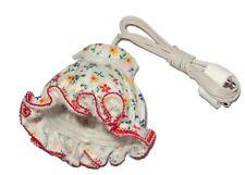 Deckenlampe, Stoff-Hängelampe für Puppenhaus, Puppenstube 3,5V Blümchen, Kahlert