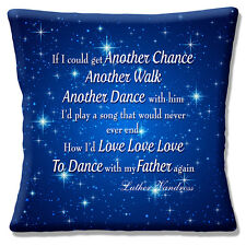 """Luther Vandross 16""""x16"""" 40cm Cushion Cover Song 'Dance With My Father Again'"""