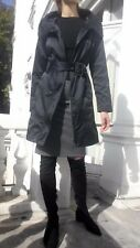 Reserved Zip Funnel Neck Trench Coat Black Size M 38 EU