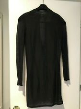 NWT Gianfranco Ferre Sheer Black Evening Dress, Size EUR44