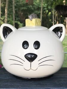 MudPie Cat & Mouse Treat Or Cookie jar - cat & mouse with cheese-So Cute-new