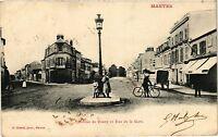 CPA  Mantes -Avenue de Rosny et Rue de la Gare  (352929)