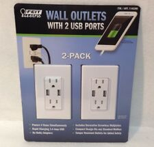 2-Pack Feit Electric Wall Outlets with 2 USB Ports - New In Box