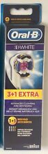 4 x original Braun Oral-B 3D white empuje cepillo - Pack 4 - 4 piezas