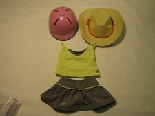 American Girl Doll Myag Truely Me Riding Helmet, Cowboy Hat and Tennis Outfit