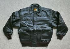 A-2 LEATHER GOAT SKIN 2XL SEAL BROWN WWII BOMBER JACKET
