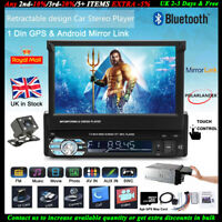 7''1 DIN GPS Car Radio MP5 Player Stereo Bluetooth FM Touch Screen+8gbTF+Camera