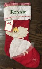 Nwt Pottery Barn Kids Angel Quilted 2016 Holiday Christmas Stocking Mono *Ronnie