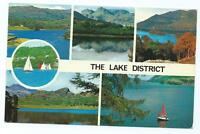 Colour Postcard of 6 Views of The Lake District