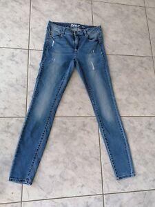 Only Damen Jeans Carmen Blue Denim blau Gr.30/32 Stretch Fransen