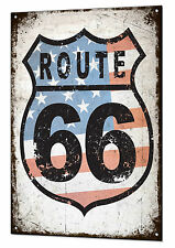 US Route 66 large Metal Tin Sign Rustic Wall Plaque Garage Bar Diner