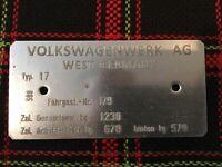 Typenschild VW Golf 1 Volkswagen mk1 NEU !!! TOP !!! Typ 17 1978/1979