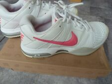 Women's NIKE Air Trainers White/Silver/Hot Pink Size 4.5