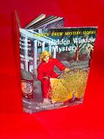 NANCY DREW #34 THE HIDDEN WINDOW MYSTERY By Carolyn Keene tweed w/DJ