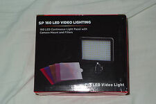strong 160 led video camera light battery powered dimmerable for camcorder