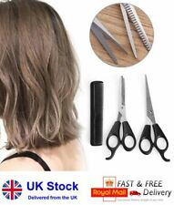 "Professional Hairdressing 6"" Cutting & Thinning Scissors & Comb, Three Piece Set"