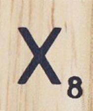 INDIVIDUAL WOOD SCRABBLE TILES! 8 FOR $2, THEN 25 CENTS PER TILE. LETTER X