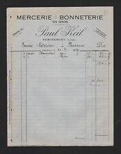 REMIREMONT, Rechnung 1927, Paul Keil Mercerie Bonneterie en gros
