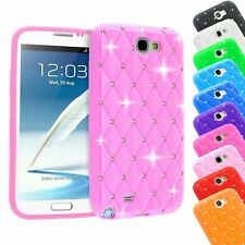 SPARKLE CRYSTAL DIAMOND BLING SOFT SILICONE CASE FOR SAMSUNG GALAXY NOTE 2 N7100