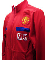 NEW Vintage Nike Manchester United Football Club Tracksuit Jacket Red Small