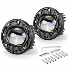 Yellow White Led Work Light Bar Flush Mount Round 3inch Fog Driving Off Road 4wd