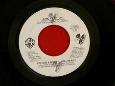 ERIC CLAPTON~ I'VE GOT A ROCK N' ROLL HEART~ MAN IN LOVE~ NEAR MINT~ WB ~ POP 45
