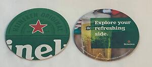 HEINEKEN Beer Collectible Coaster Brewery X2 FREE SHIP Design 2