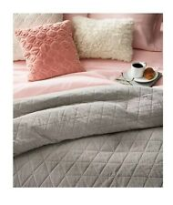 THRESHOLD Vintage Wash Velvet Gray Quilt Only ~ Full / Queen ~ Cotton