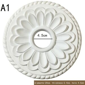 1PC Ceiling Rose Ornate Onlay Home Decoration Victorian Retro Round 20cm/31cm