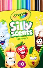 Crayola Silly Scents 10ct Fragrant Scented Markers Pack of 10 Stocking Stuffer
