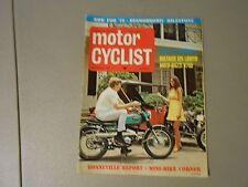 NOVEMBER 1969 MOTORCYCLIST MAGAZINE,BMW FOR 70,MOTO GUZZI V750,BULTACO 125 LOBIT
