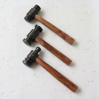 Set of 3 Heavy Iron Hammers Pin Flat Cap Style Blacksmith Useful Item