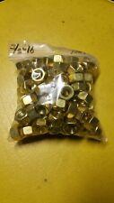3/8-16 Brass Machine Screw Hex Nuts Qty 100pc