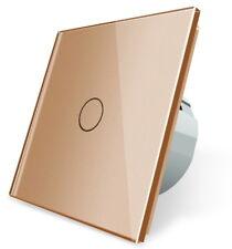 Glas Touch Lichtschalter Wandschalter Schalter Ein/Aus  VL-C701-13 LIVOLO Gold