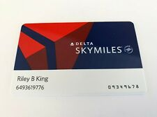 BB Riley B King OWNED Delta Airlines Miles Card JULIENS Estate
