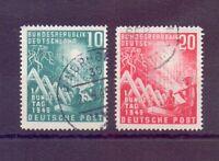 Bund 1949 - Bundestag MiNr. 111/112 rund gestempelt - Michel 45,00 € (008)