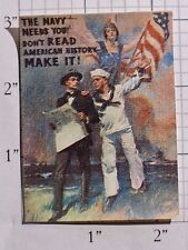 James Montgomery Flagg The Navy Needs You! Iron-on Clothing Patch WW1 Circa 1917