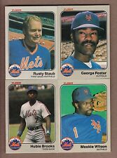 COMPLETE 1983 Fleer New York Mets TEAM SET - 26 cards - Staub Foster Brooks ++