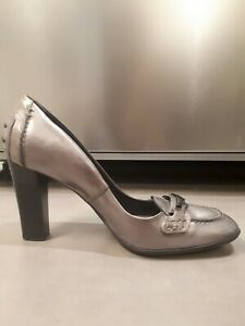 AUTHENTIC TOD'S WOMEN SHOES IN GREY LEATHER