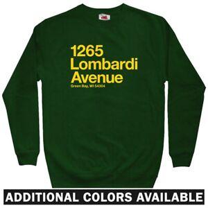 Green Bay Football Stadium Men's Sweatshirt - Crewneck S-3X - Packers Fan Gift