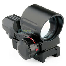 Tactical Holographic 4 Type Reflex Red Green Dot Sight Scope 21mm Rail Hunting