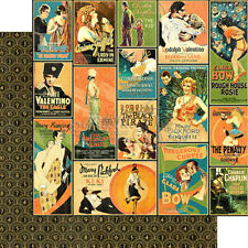 Graphic 45 Vintage Hollywood Collection 12 x 12 Tinseltown Valentino Cardstock