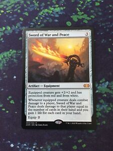 MTG, Sword of War and Peace. Double Masters Mythic Rare NM