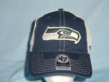 091e5a8164abf SEATTLE SEAHAWKS mesh Adjustable Clean Up style CAP HAT  47 Brand NWT  28  retail